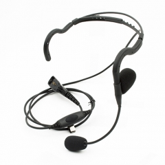 Tactical Headset in-line PTT and boom mic