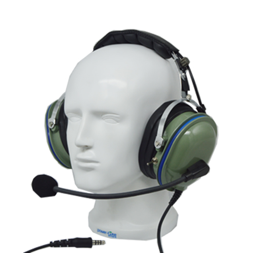 Green color Helicopter Headset with Switch